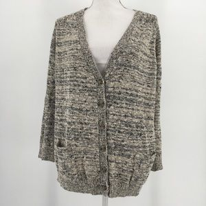 Love By Design Sweater Button Up Cardigan Marled